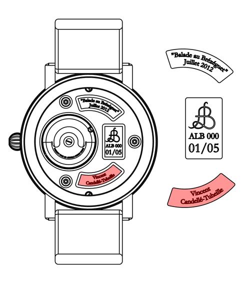 Montres personnalisées Alb 000 et Alb 100