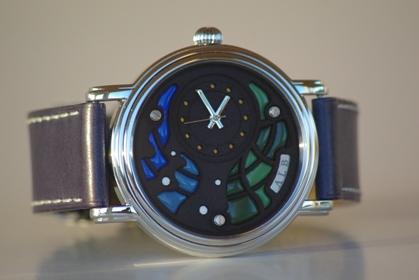 Photo Face Avant Montre Bracelet Art Luxe Homme Alb 000 Atelier Horloger ALB Collection A.L.B cadran émail horlogerie d`art